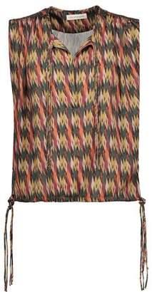 Etoile Isabel Marant Harvey Haut Gathered Printed Satin Top