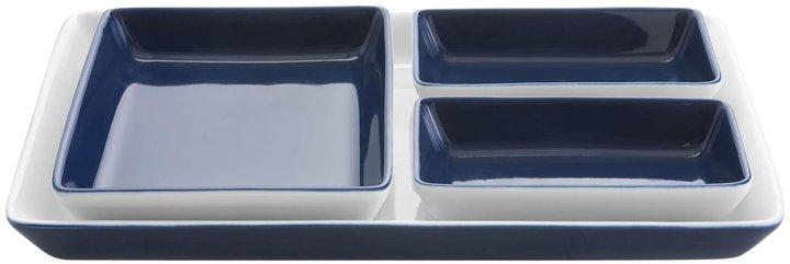 WedgwoodWedgwood Vera Wang Vera Simplicity Tray & 3 Plates - Indigo