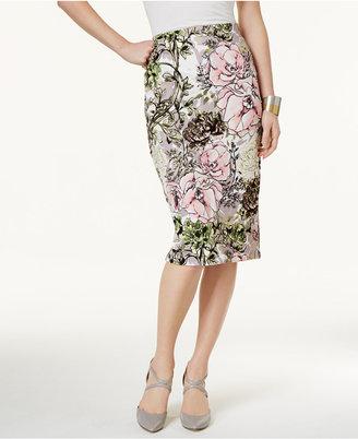 ECI Printed Pencil Skirt $60 thestylecure.com