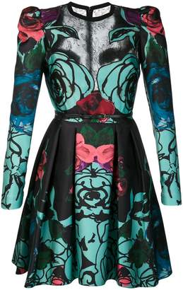 Elie Saab roses print flared dress