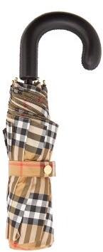 Burberry Vintage Check Folding Umbrella - Womens - Beige