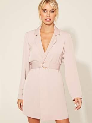 Shein Belted Blazer Dress