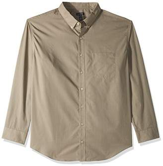 Van Heusen Men's Size Big and Tall Wrinkle Free Poplin Long Sleeve Shirt