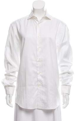 Salvatore Ferragamo Long Sleeve Button-Up Top