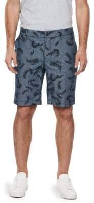 Paige Printed Cotton Shorts