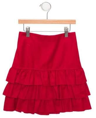 Rachel Riley Girls' Tiered A-Line Skirt w/ Tags