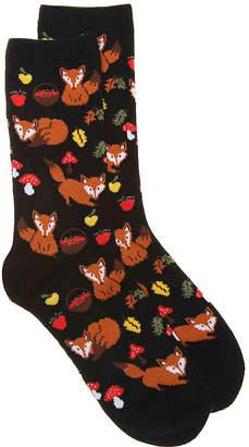 K. Bell Fall Fox Crew Socks - Women's