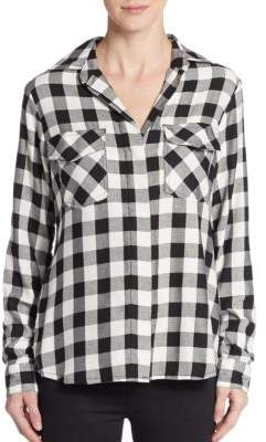 Split Sequined-Back Shirt