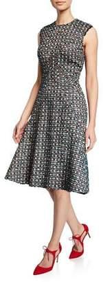 Zac Posen Metallic Tweed Sleeveless Dress