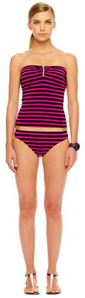 MICHAEL Michael Kors Jardin Striped Swim Bottom