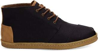 Toms Black Heritage Canvas Mens Bota Boot
