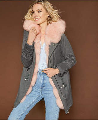 The Fur Vault Hooded Fur-Lined Parka