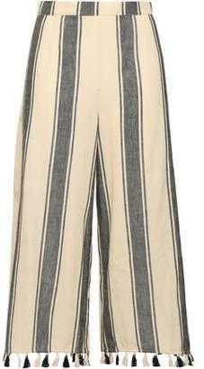 Dodo Bar Or Baka Tassel-trimmed Striped Cotton-gauze Culottes