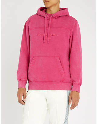 GUESS USA Farmers Market logo-embroidered cotton-jersey hoody