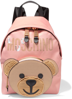 Moschino - Textured-leather Backpack - Pink $850 thestylecure.com
