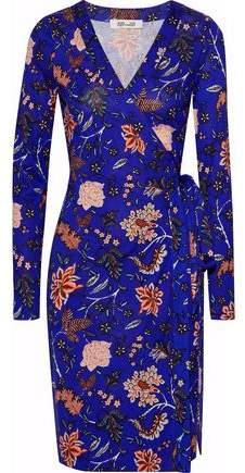 Julian Floral-Print Silk-Jersey Wrap Dress