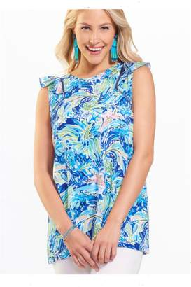 Paige Charlie Printed Ruffle Blouse