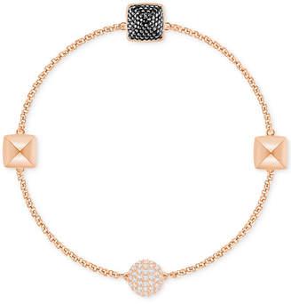 Swarovski Remix Collection Rose Gold-Tone Pave Pyramid Magnetic Closure Bracelet