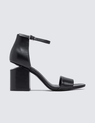 Alexander Wang Abby Sandal with Rhodium