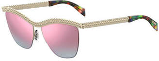 Moschino Curb-Chain Gradient Sunglasses