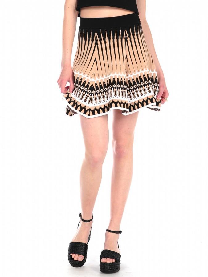 Torn By Ronny Kobo Anabella Skirt Mosaic Jacquard