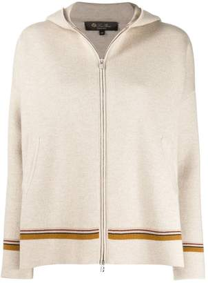 Loro Piana cashmere hooded zip cardigan