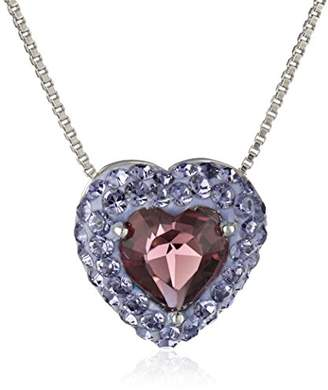 Swarovski Sterling Silver Heart with Elements Pendant Necklace