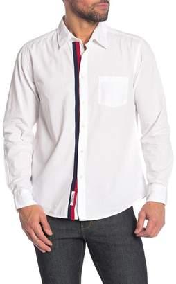 Velvet Striped Placket Classic Fit Shirt
