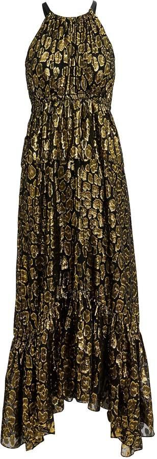Rosa Golden Leopard Midi Dress