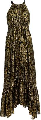 A.L.C. Rosa Golden Leopard Midi Dress