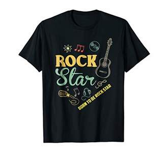 Born To Be Rock Star T-Shirt Rock & Roll Electric Guitar Tee