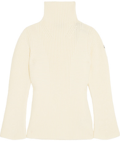 Moncler Moncler - Maglione Ribbed Wool Turtleneck Sweater - Cream