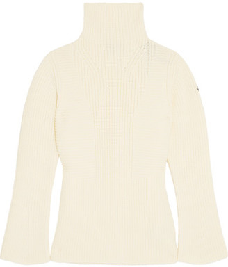 Moncler - Maglione Ribbed Wool Turtleneck Sweater - Cream $450 thestylecure.com