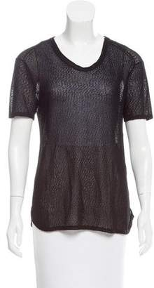 Rag & Bone Semi-Sheer Short Sleeve Top