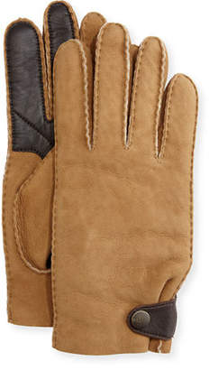 UGG Men's Suede & Leather Smart Gloves