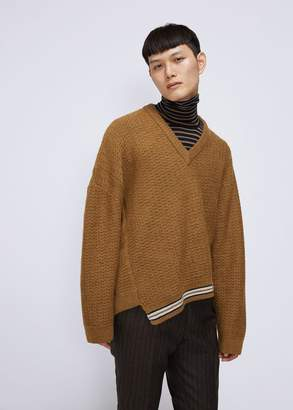 Lanvin Asymmetric V-Neck Sweater