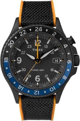 Timex R) Allied Silicone Strap Watch, 43mm