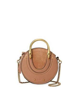 Chloé Pixie Mini Leather/Suede Crossbody Bag