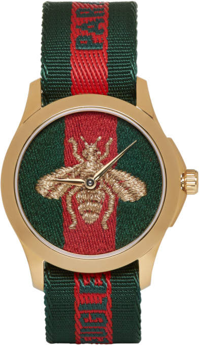 Gold and Green laveugle Par Amour Bee Watch