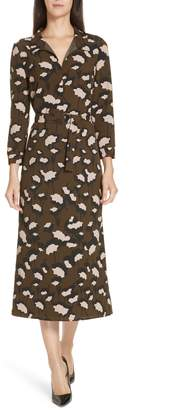 BOSS Higena Print Midi Dress