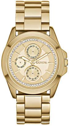 GENEVA Womens Crystal-Accent Boyfriend Bracelet Watch