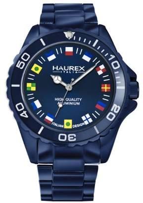 Haurex Italy Men's 7k374UBF Ink Blue Aluminum Bracelet Watch