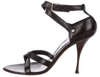Saint Laurent Leather Crossover Sandals
