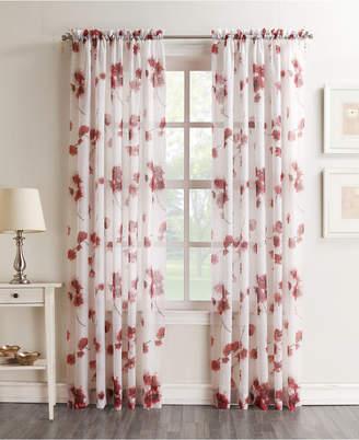"Lichtenberg Bimini Textured Floral Sheer Voile Curtain 51"" x 84"" Panel"