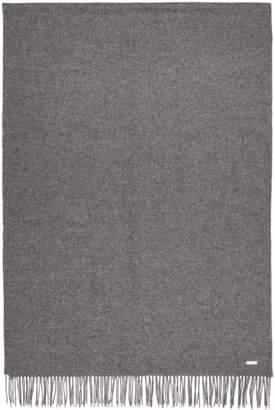 BOSS Grey Oversized Lambswool Scarf