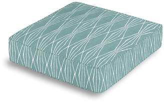 Loom Decor Box Floor Pillow Handcut Shapes - Pool