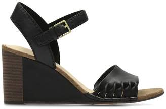 1df503b9bb2cb0 at La Redoute · Clarks Spiced Poppy Leather Wedge Sandals