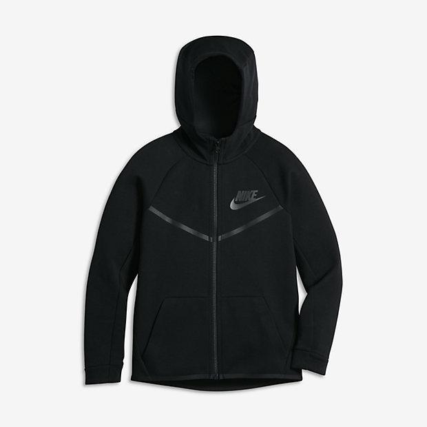 Nike Sportswear Tech Fleece Windrunner Big Kids' (Boys') Hoodie (XS-XL)