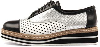 Django & Juliette Tiara Black-white Shoes Womens Shoes Casual Heeled Shoes