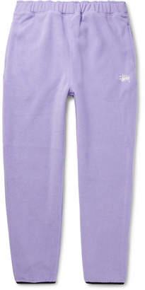 Stussy Logo-Embroidered Fleece Sweatpants